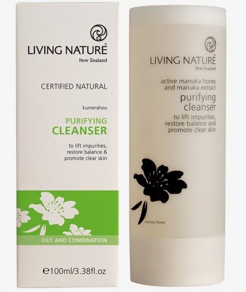 Living Nature Purifying Cleanser - Klärendes Reinigungsgel 100 ml
