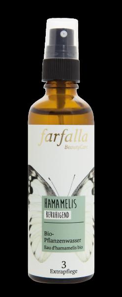 Farfalla Hamamelis Bio-Pflanzenwasser 75ml beruhigend