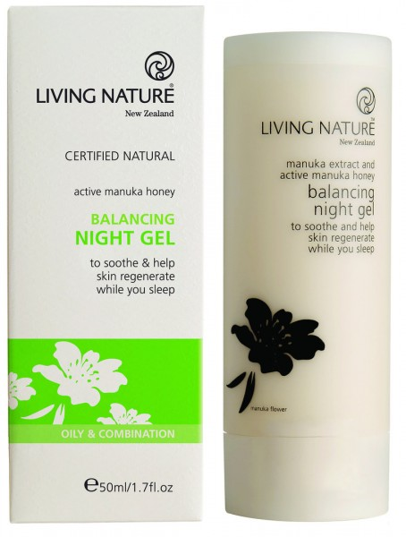 Living Nature Balancing Night Gel - Regulierendes Nachtpflegegel 50 ml