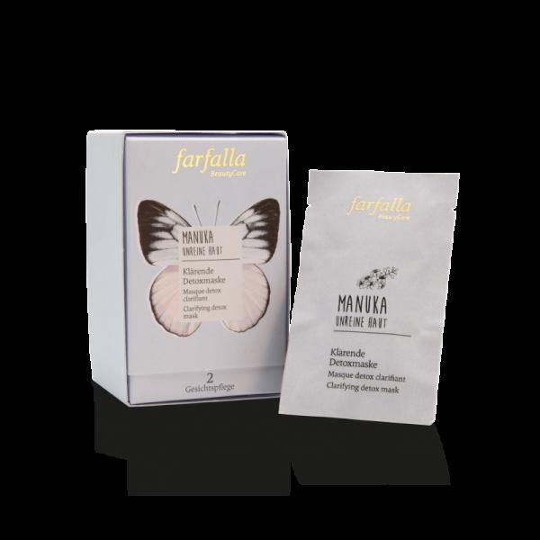 Farfalla Manuka Unreine Haut klärende Detoxmaske 10x7ml