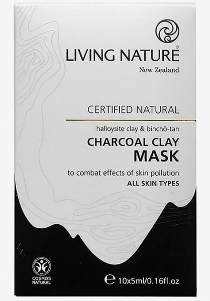 Living Nature Charcoal Clay Mask - Kohle-Tonerde-Maske 50ml