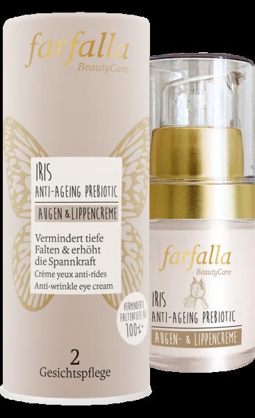 Farfalla Iris Anti-Ageing Prebiotic Augen- & Lippencreme 15ml