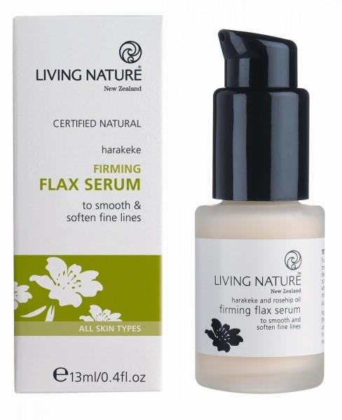 Living Nature Firming Flax Serum - Straffendes Flax Serum 13 ml