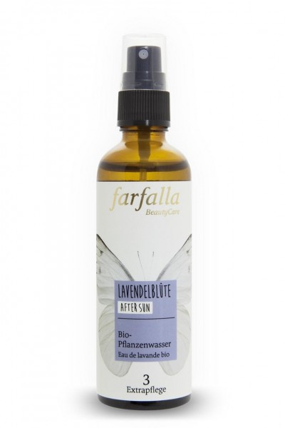 Farfalla Lavendelblüte Pflanzenwasser after sun 75 ml