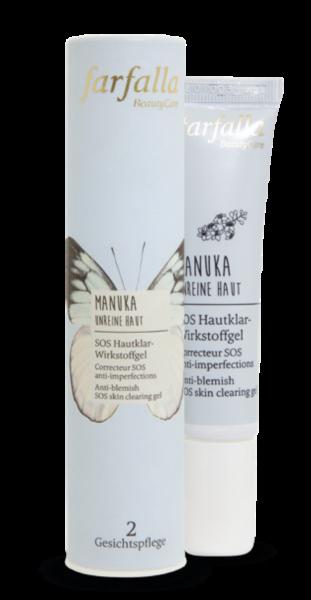 Farfalla Manuka Unreine Haut SOS Hautklar-Wirkstoffgel 15ml