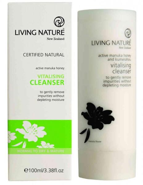 Living Nature Vitalising Cleanser -Vitalisierende Reinigungsm. 100 ml